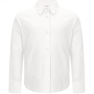 White Girls Long Sleeve School Blouse - Twin Pack