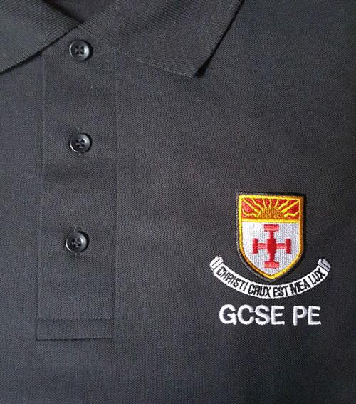 Black GCSE PE Polo Shirt