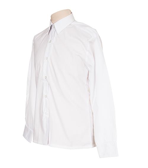White Boys Long Sleeve School Shirt - Twin Pack