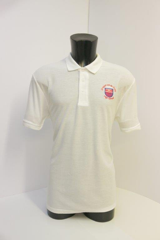 Girls PE Polo White
