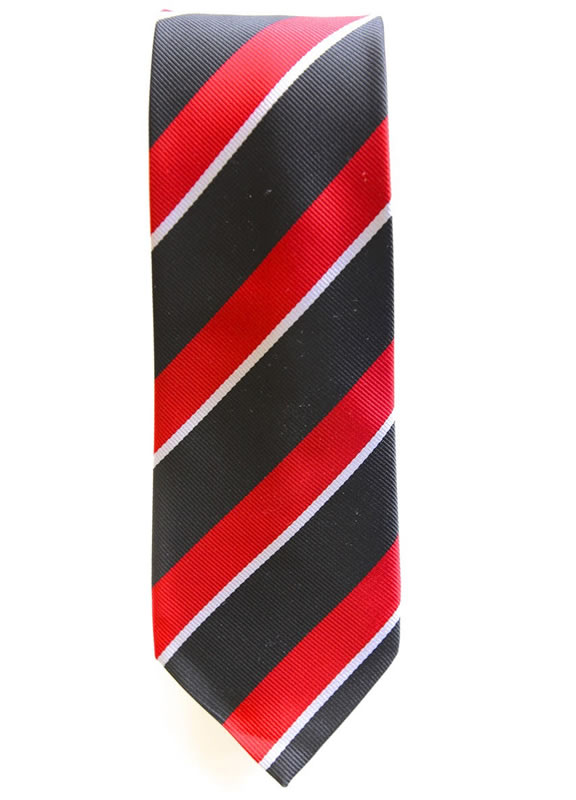 Black/White/Red Standard Tie