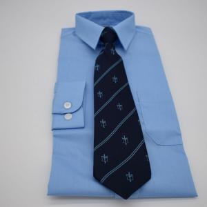 Tie with school logo