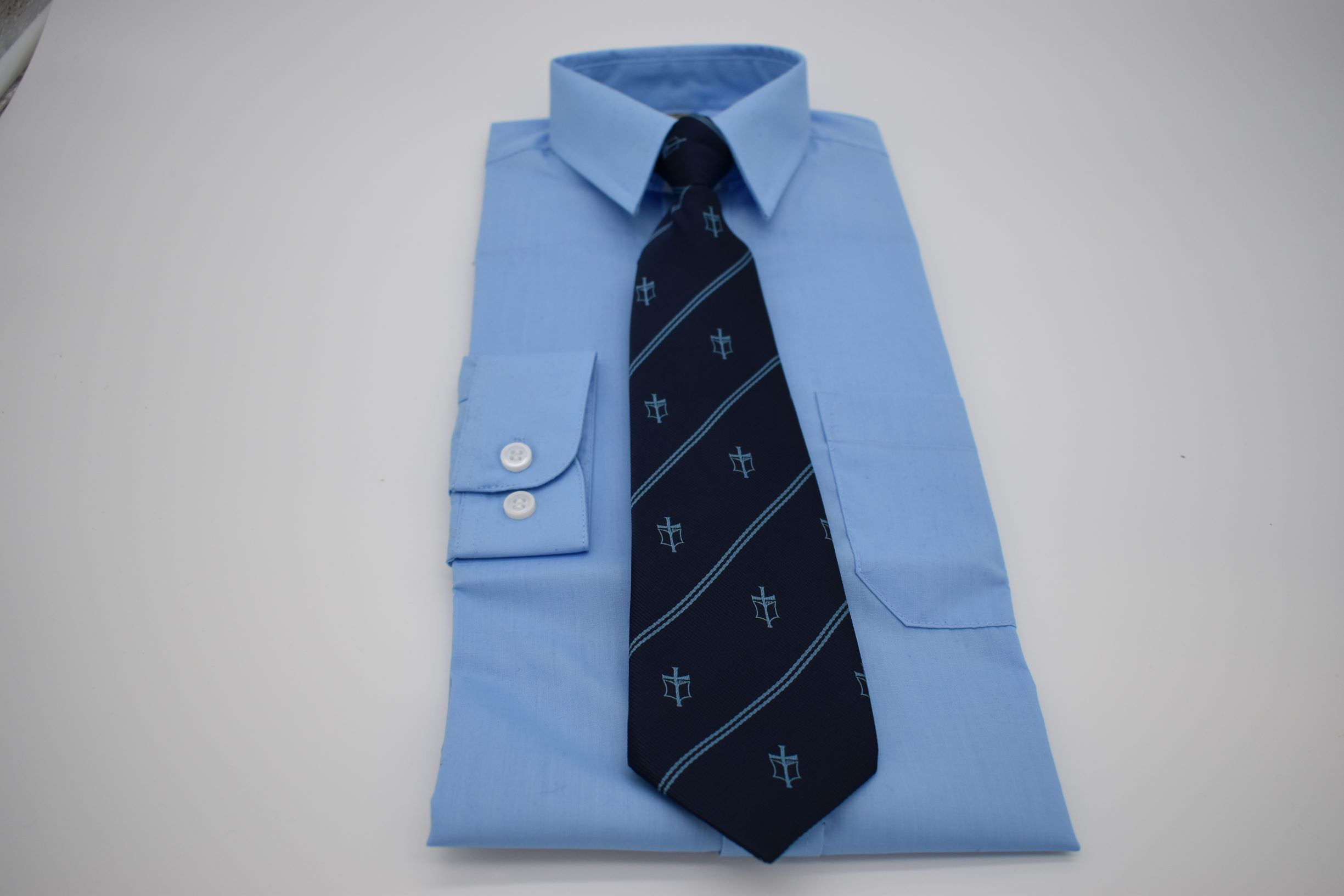 Tie with school logo