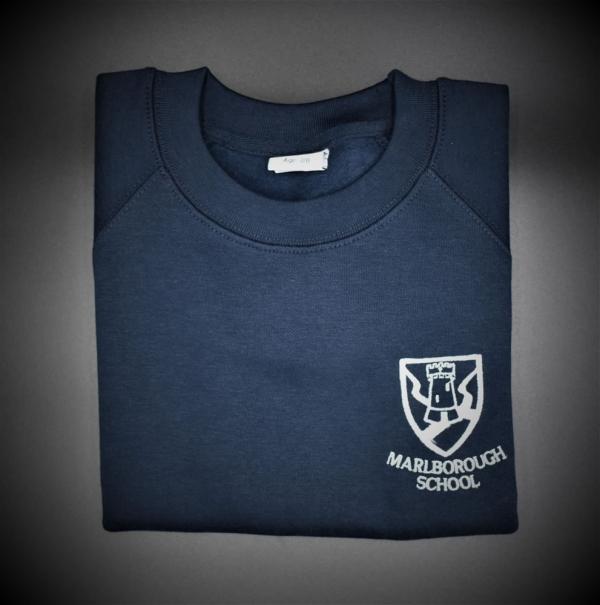 Marlborough Embroidered Crew Neck Sweatshirt