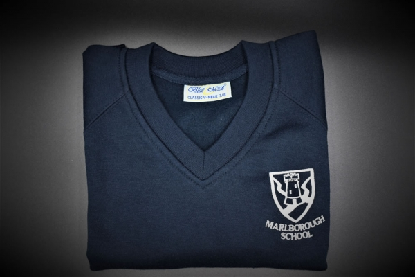 Marlborough Embroidered V Neck Sweatshirt