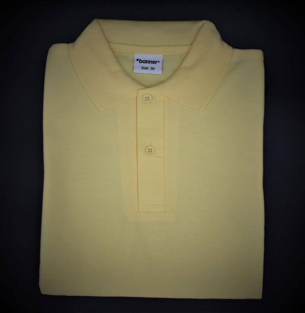 Puss Bank Unisex Yellow Polo Shirt