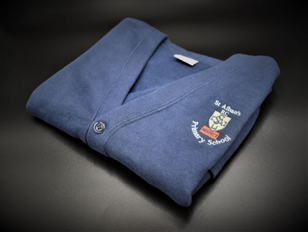St Albans Girls Embroidered Cardigan