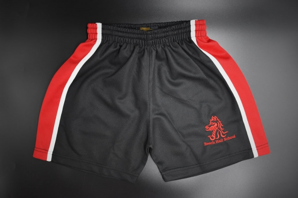 Beech Hall Boys Red/Black PE Shorts