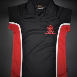 Beech Hall Girls Red/Black PE Polo Shirt