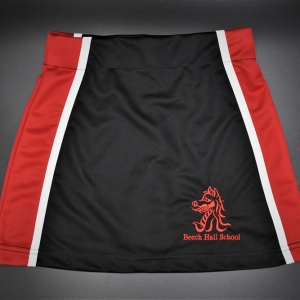 Beech Hall Girls Red/Black Skort