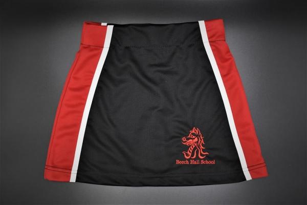 Beech Hall Girls Red/Black Skort