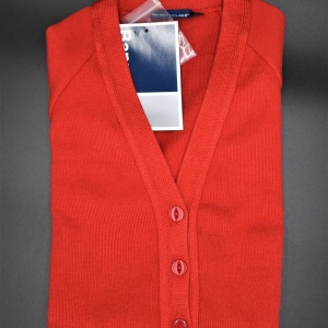 Beech Hall Girls Red Cardigan
